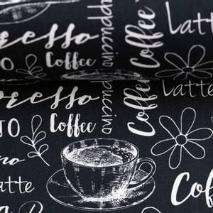 Bilde av print - bomull cafeteria svart