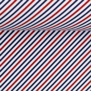 Bilde av print - bomull små! stiper blå rød