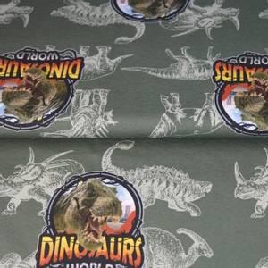 Bilde av Dinosaur på grønn grå - digital jersey