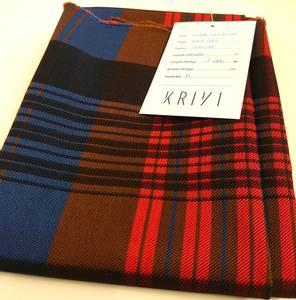 Bilde av Material: Ull forkle rød-blå - Nordmørsbunad