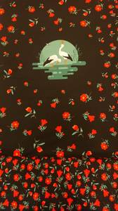 Bilde av storken panel med blomster