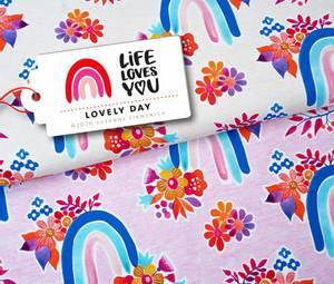 Bilde av LIFE LOVES YOU regnbue - rosa økol. jersey