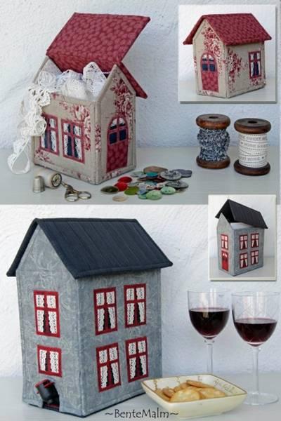 Bilde av 074 Bente Malm Mønster Vinhus og andre hus