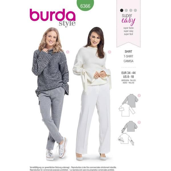 Bilde av Burda Mønster   B6366 Women's Easy Tops