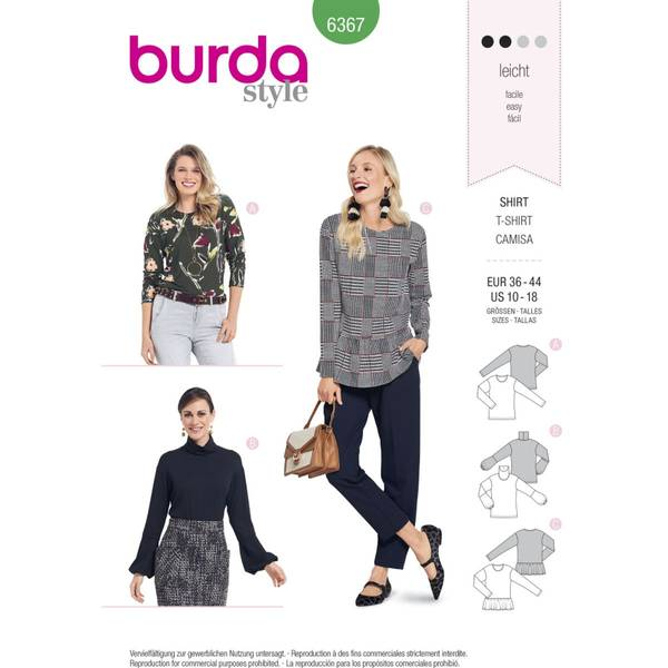 Bilde av Burda Mønster   B6367 Women's Tops
