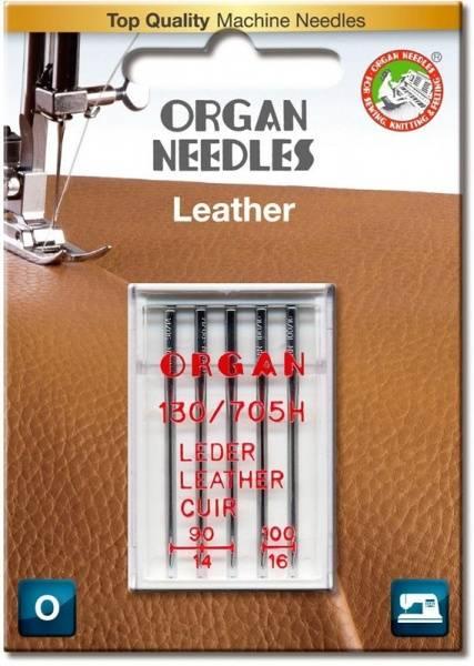 Bilde av (23E42) Nåler Leather / Skinn 3x90 2x100 Organ