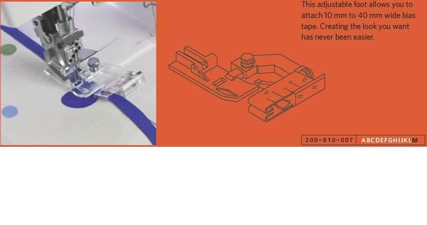 Bilde av Skråbåndsfot (M) 5-20mm / Bias tape foot (M)