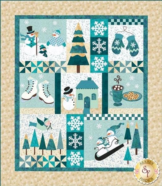 Bilde av Blessings of Winter - Fresh Snow Shabby Fabrics mønster