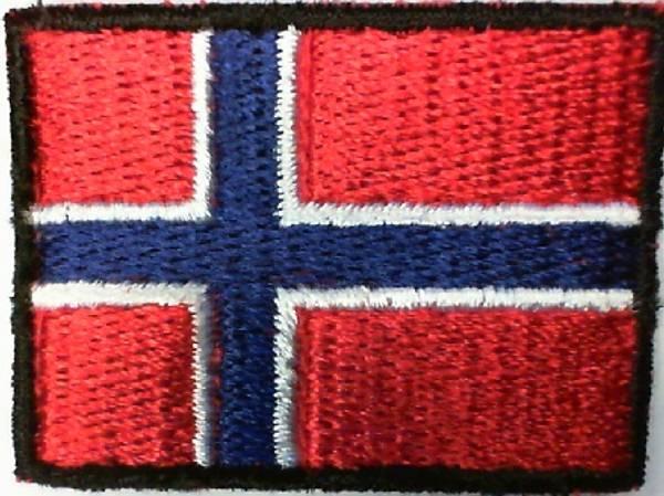 Bilde av (3K14) Norsk flagg brodert ca 4cm 100% brodert