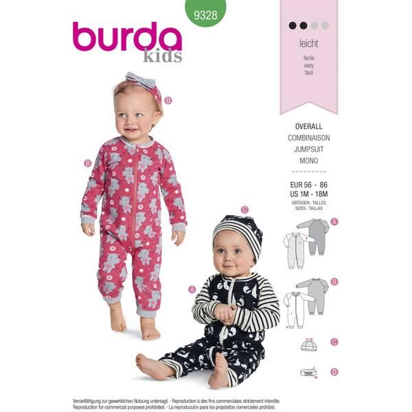 Bilde av Burda Mønster   B9328 Baby's Romper