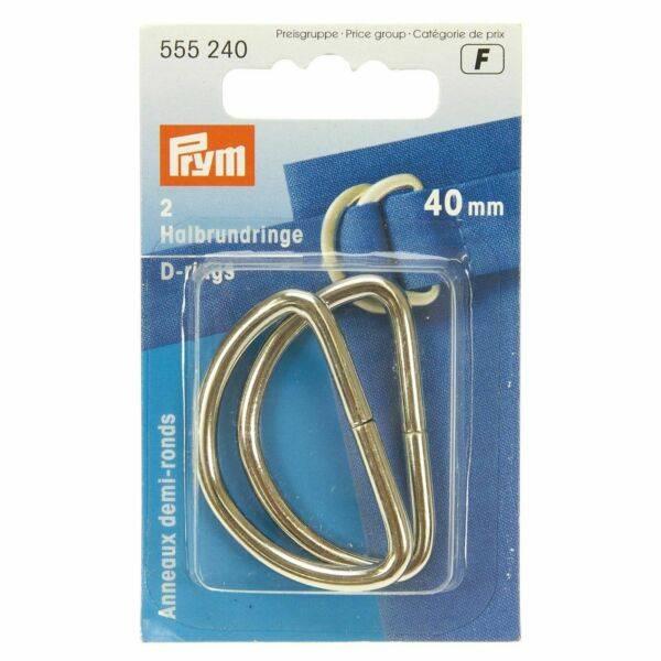 Bilde av Prym D-ring 20mm 4stk – Sølv 555220