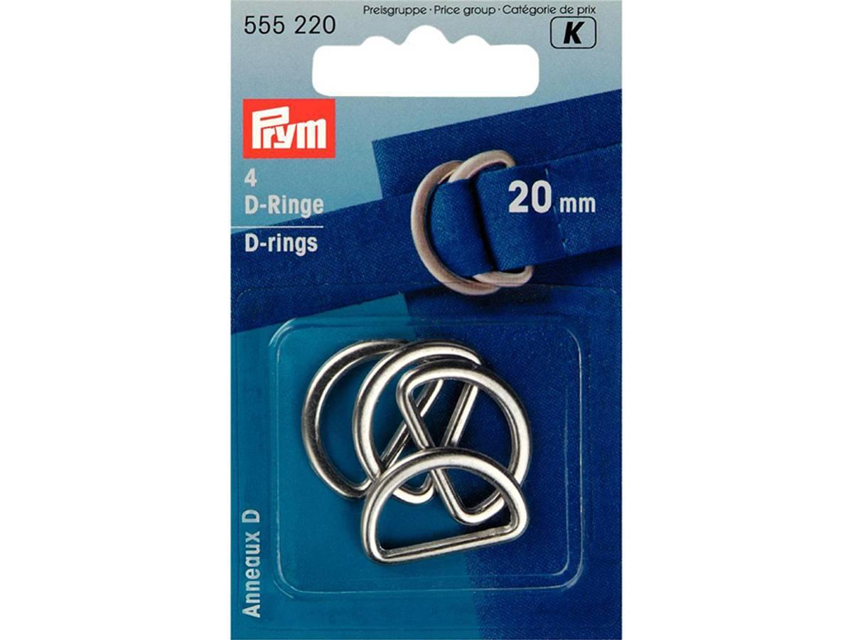 Prym D-ring 40mm 2 stk – Sølv 555240