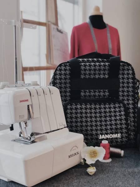 Bilde av (20D5) Grå/Svart symaskinveske uten skulderrem
