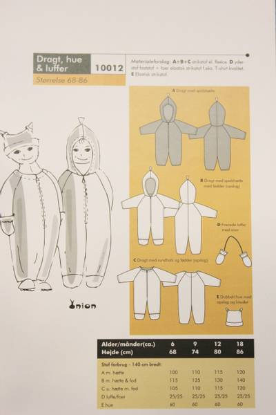 Bilde av ONION KIDS DRAKT, LUE & VOTTER 10012