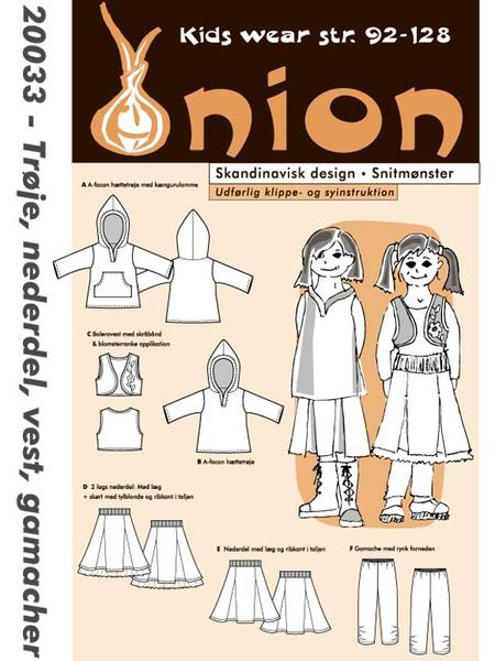 Bilde av ONION KIDS GENSER, SKJØRT, VEST & TIGHTS 20033