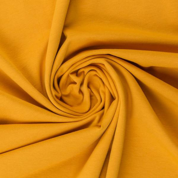 Bilde av Vanessa, Cotton Jersey 000313 Plain, mustard