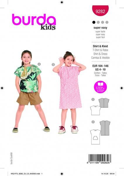 Bilde av Burda Mønster B9282 T-shirt og kjole