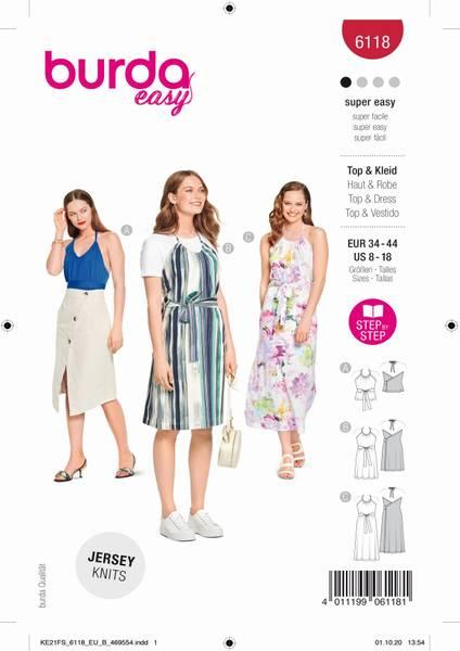 Bilde av Burda Mønster B6118 Topp og kjole