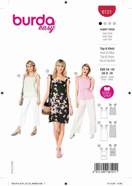 Bilde av Burda Mønster B6121 Topp og kjole