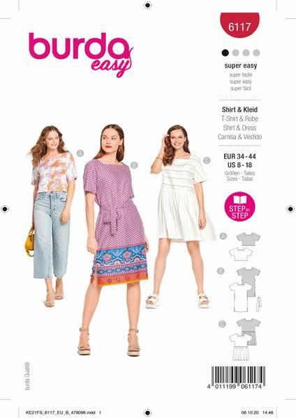Bilde av Burda Mønster B6117 Bluse og kjole