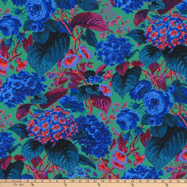 Bilde av Kaffe Fassett Rose and Hydrangea, PWPJ097.BLUE