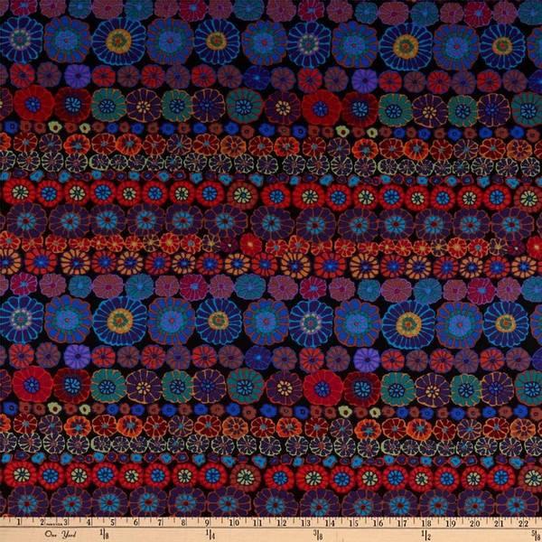 Bilde av Kaffe Fassett Row Flowers, PWGP169.DARKX