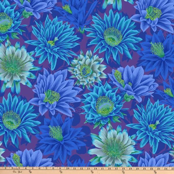 Bilde av Kaffe Fassett Cactus Flower, PWPJ096.BLUE
