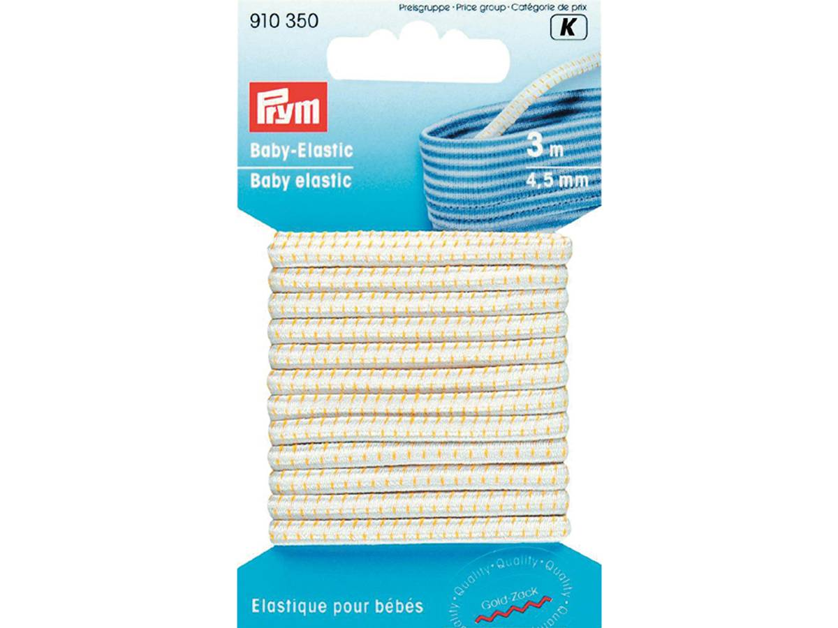 Prym Baby-elastic 4,5mm. hvit 3 meter 910350