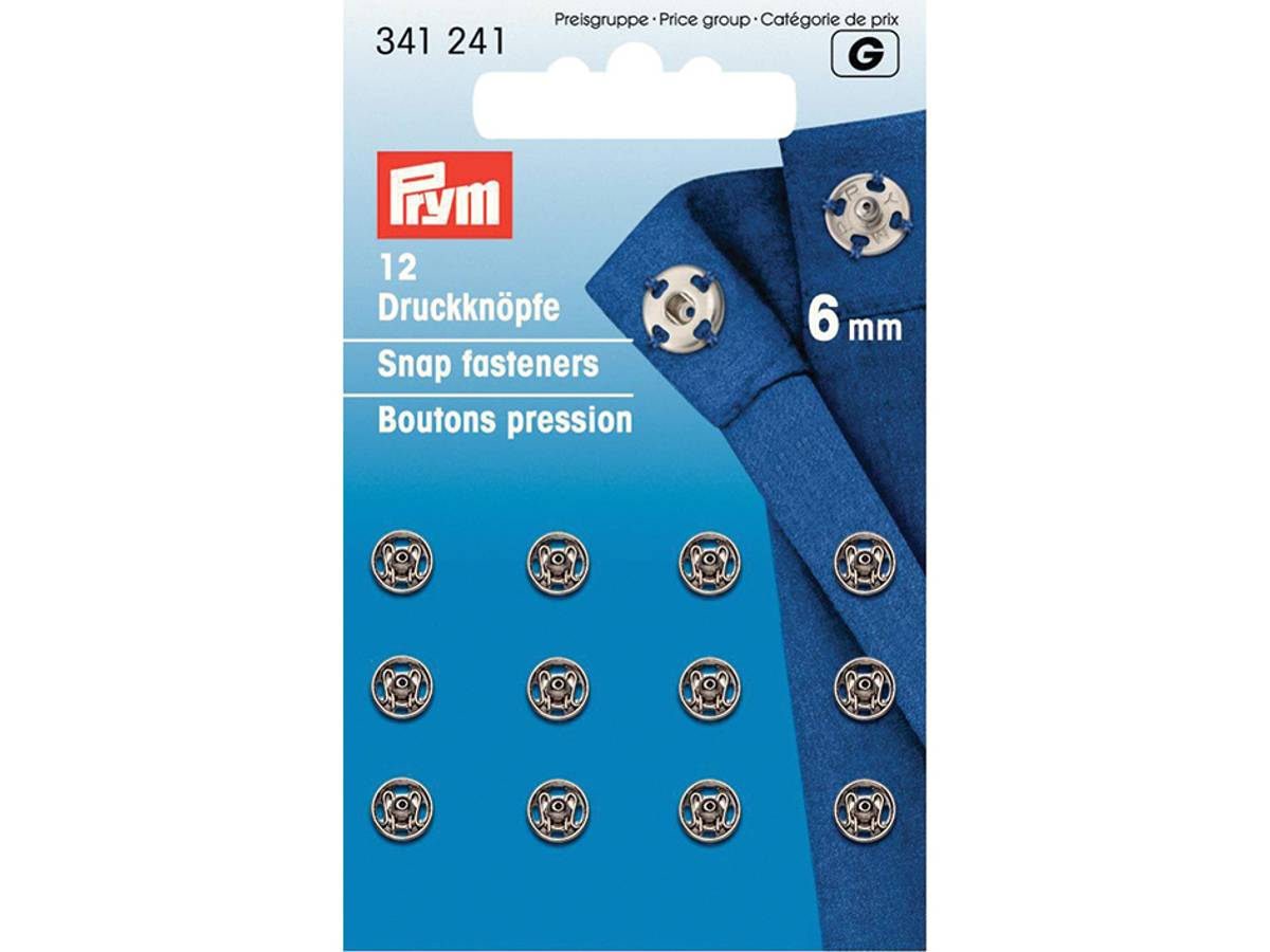 Prym Trykknapper, 6mm, Sølv, 341241