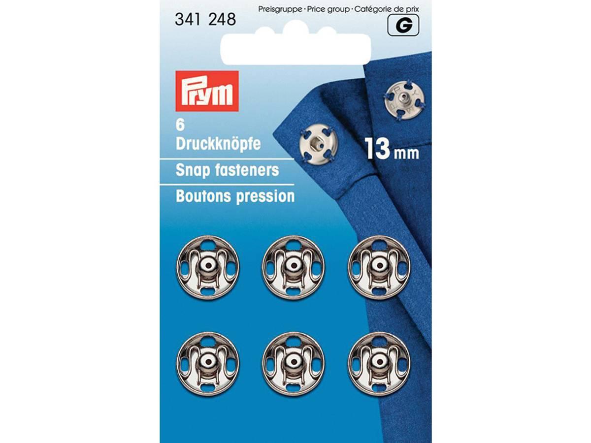 Prym Trykknapper, 13mm, Sølv, 341248