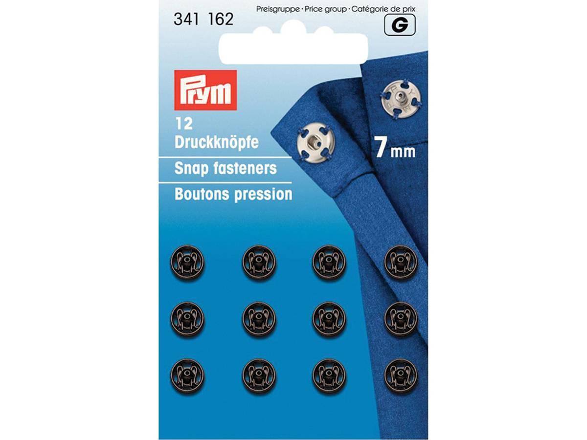 Prym Trykknapper, 7mm, Sort, 341162