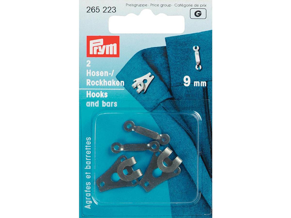 Prym Buksehekter, 9mm, 2stk, Sort, 265223