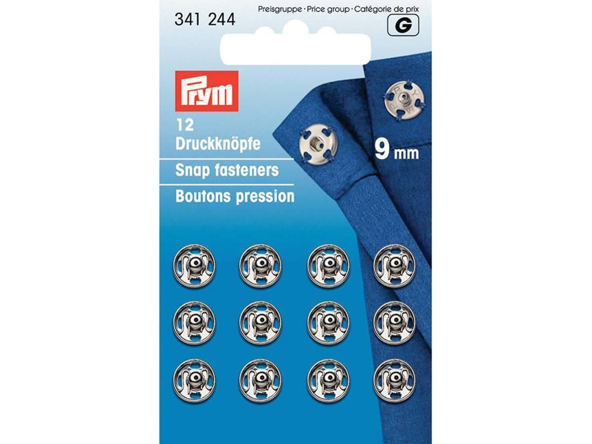 Prym Trykknapper, 9mm, Sølv, 341244