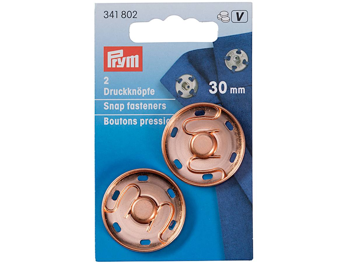 Prym Patentknapper 30mm – Rose gold - 341802