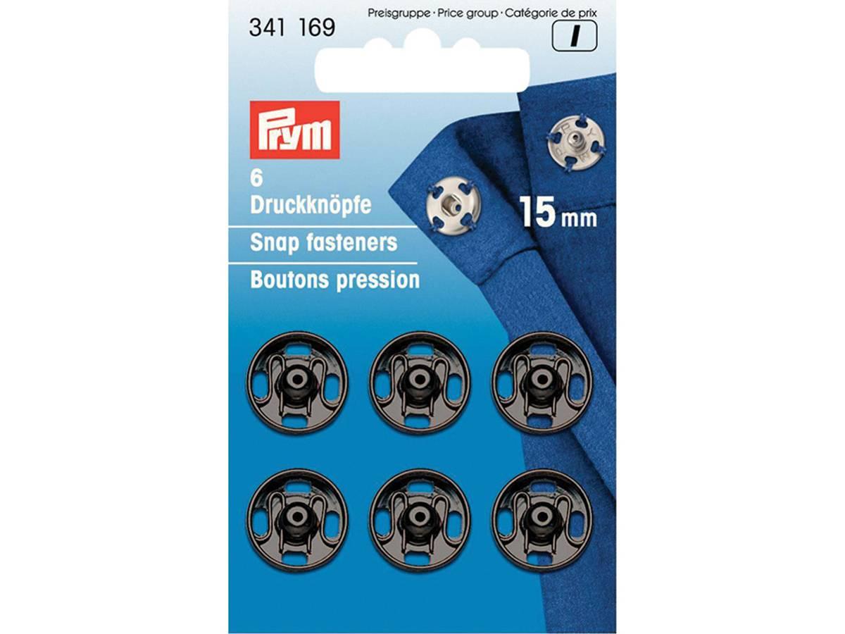 Prym Trykknapper, 15mm, Sort, 341169