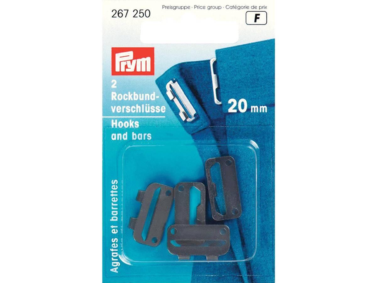 Prym Buksehekter, 20mm, 2stk, Sort, 267250