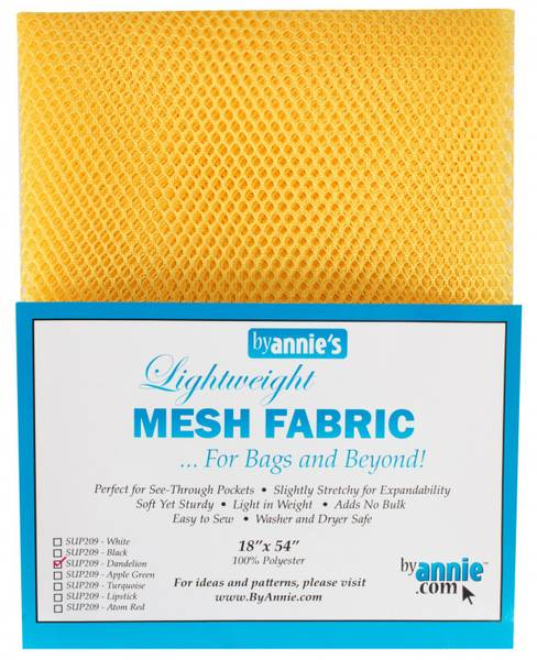 Bilde av By Annie's by Mesh fabric SUP209 - Dandelion Gul
