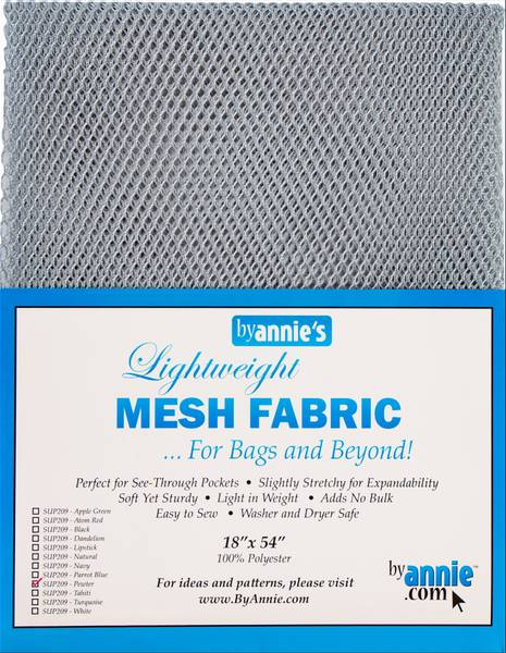 Bilde av By Annie's Mesh fabric SUP209 - Pewter Grå