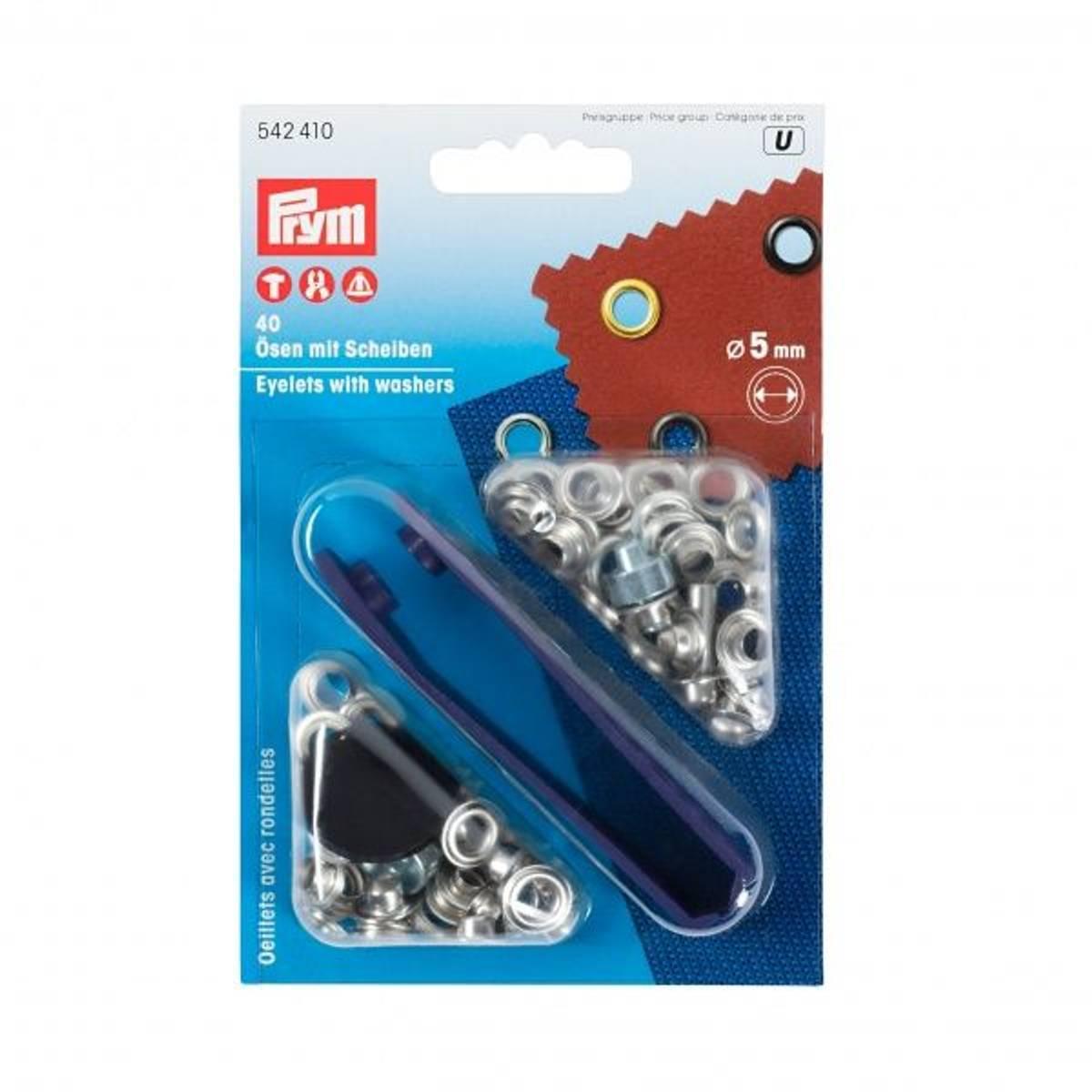 Prym Maljer, 5mm, 40stk, sølv, 542410