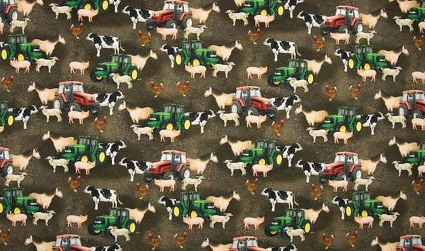 Bilde av Bondegård med traktor og dyr