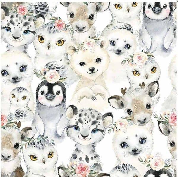 Bilde av Snøleopard og venner - hvit