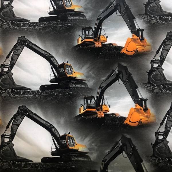 Bilde av Gravemaskiner i arbeid