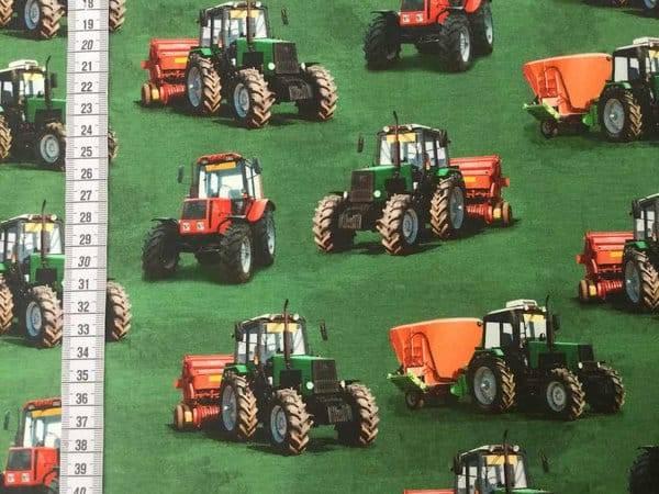 Bilde av Traktorer på grønn bakgrunn