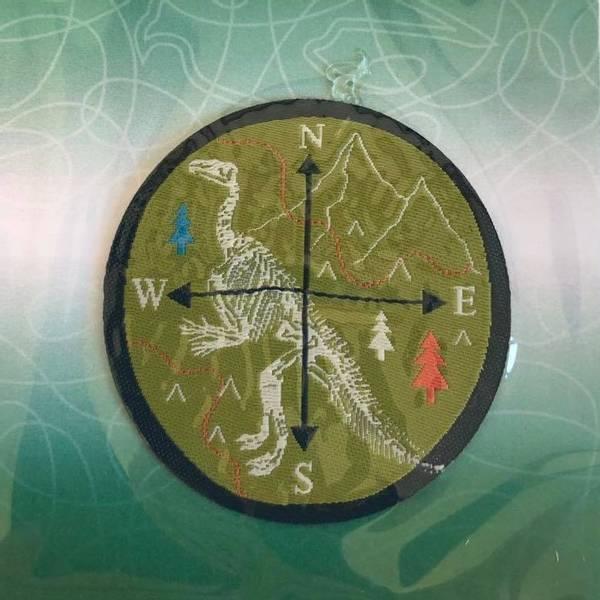 Bilde av Kompass med dinosaur, strykemerke diam 4,5cm