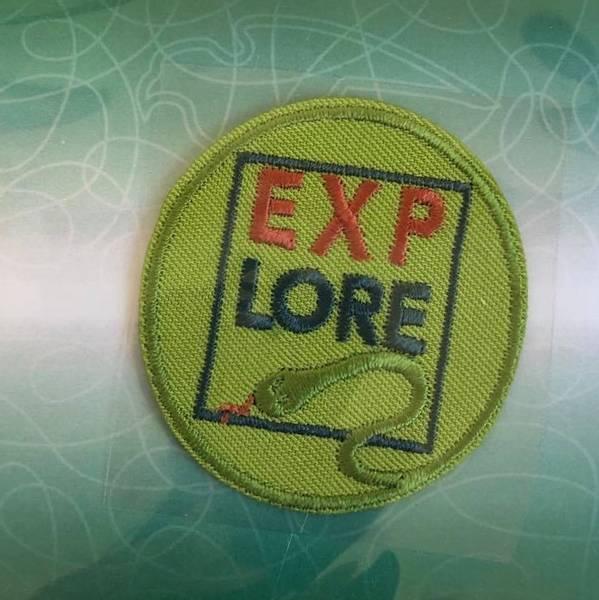 Bilde av Explore lys grønn, strykemerke diam 4,5cm