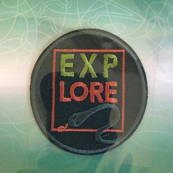 Bilde av Explore mørk grønn, strykemerke diam 4,5cm