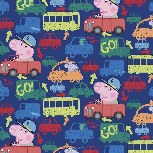 Bilde av Bomullsjersey - Peppa Gris med biler