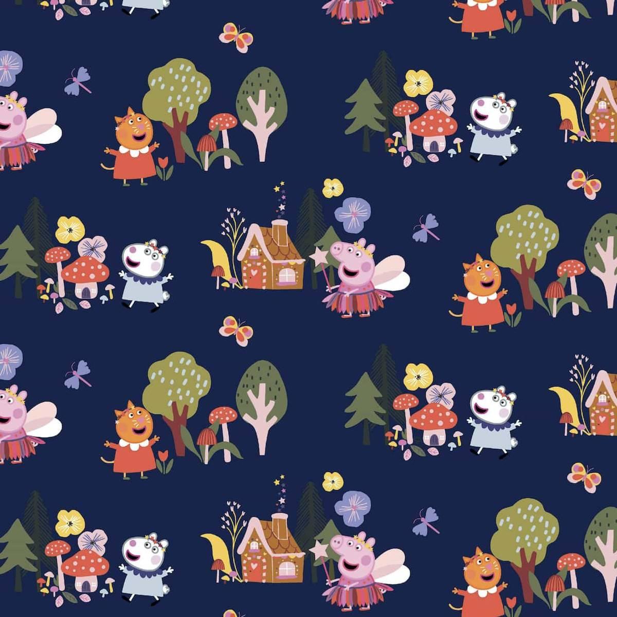 Bomullsjersey - Peppa Gris i skogen