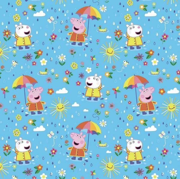 Bilde av Bomullsjersey - Peppa Gris, sol og regn