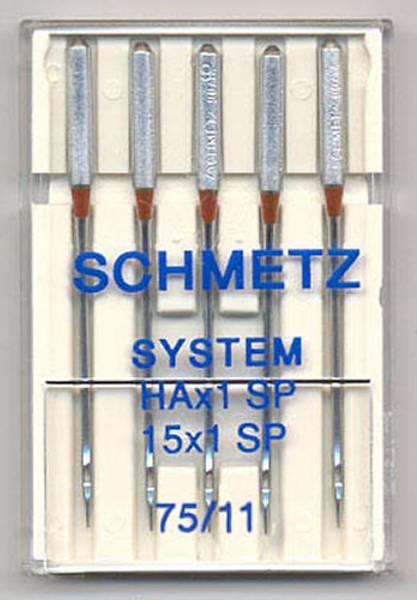 Bilde av (23F1) Nåler 75 HAx1 SP, 15X1 SP Super Stretch 5 pakk SCHMETZ (2